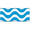"Trend Wavy Blue Bolder Borders - Wave - Precut, Durable, Reusable - 2.75"" Height x 429"" Width - Blue, White - 1 Pack"