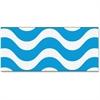 "Trend Wavy Blue Bolder Borders - Wave - Precut, Durable, Reusable - 2.75"" Height x 429"" Width - Blue, White - 1 Pack"