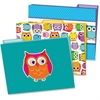 Carson-Dellosa Colorful Owls File Folders Set - Multi-colored - 6 / Pack