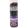 ChenilleKraft Camel Hair Paint Brushes - 72 Brush(es) - No. 4, No. 6, No. 8, No. 10, No. 12 - Aluminum Ferrule - Assorted