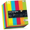 "Astrobrights Everyday Colored Paper - Letter - 8.50"" x 11"" - 24 lb Basis Weight - 0% Recycled Content - Smooth - 250 / Pack - Lunar Blue, Terra Green, Cosmic Orange, Re-entry Red, Solar Yellow"