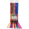 "Hygloss Non-gum Embossed Metallic Chain Strips - 72 Piece(s) - 1"" x 8"" - 1 Pack - Assorted Metallic - Paper"