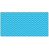 "Pacon Chic Chevron Design Bulletin Board Papers - 48"" x 12 ft - 1 Roll - Aqua"