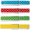 "Teacher Created Resources Polka Dots Clothespins - 2.9"" Length x 0.3"" Width - for Decoration, Classroom, Cloth - Sturdy, Lightweight - 20 Pack - Multi - Wood"