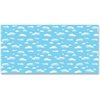 "Pacon Clouds Design Bulletin Board Papers - 48"" x 12 ft - 1 Roll - Blue, White"