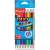 Helix Color'Peps Colored Pencils - Assorted Lead - 12 / Box