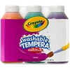 Crayola Artista II Washable Tempera Paint - 8 fl oz - 3 / Each - Orange, Green, Purple