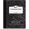 Pacon Marble Hard Cover College Rule Composition Book - 100 Sheets - 200 Pages - College Ruled - White Paper - Black Marble Cover - 100 / Each