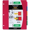 "Five Star Flex 5 Tabs Divider Noteprotectors - 5 x Divider(s) - 9.75"" Divider Width x 11.50"" Divider Length - 8.50"" Width x 11"" Length - 3 Hole Punched - Red Plastic, Blue, Orange, Purple, Green Divid"
