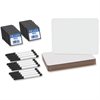 "Flipside Dry Erase Board Set Class Pack - 9.5"" (0.8 ft) Width x 12"" (1 ft) Height - White Surface - Rectangle - 12 / Pack"