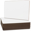 "Flipside Nipped Corners Plain Dry Erase Board - 9"" (0.8 ft) Width x 12"" (1 ft) Height - White Surface - Rectangle - 24 / Pack"