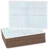 "Flipside X/Y Axis/Plain Dry Erase Board - 9"" (0.8 ft) Width x 12"" (1 ft) Height - White Surface - Rectangle - 24 / Pack"