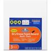 Elmer's Dry Erase Foam Board - White Foam Board Surface - Rectangle - Portable - 3 / Pack