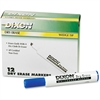 Ticonderoga Dry Erase Whiteboard Markers - Broad, Fine Point Type - Wedge Point Style - Blue - 1 Dozen