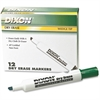 Ticonderoga Dry Erase Whiteboard Markers - Broad, Fine Point Type - Wedge Point Style - Green - 1 Dozen