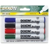 Ticonderoga Dry Erase Whiteboard Markers - Broad, Fine Point Type - Wedge Point Style - Assorted - 4 / Pack