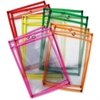 ChenilleKraft Neon Color Dry-erase Pockets - Neon Red, Neon Yellow, Neon Orange, Neon Green, Neon Pink Frame - Rectangle - 10 / Set