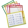 ChenilleKraft Neon Color Dry-erase Pockets - Neon Red, Neon Yellow, Neon Orange, Neon Green, Neon Pink Frame - Rectangle - 25 / Set