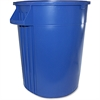 "Gator 44-gallon Container - Lockable - 44 gal Capacity - Crush Resistant, Impact Resistant - 31.6"" Height x 23.8"" Width - Polyethylene Resin, Plastic - Blue"