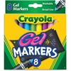 Crayola Washable Broad Line Gel Markers - Assorted Gel-based Ink - 8 / Set