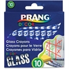 Prang Decor Glass Crayons - Assorted - 10 / Set