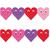 "Hygloss Happy Hearts Design Border Strips - 12 Happy Hearts - Damage Resistant, Durable, Long Lasting - 36"" Height x 3"" Width - Assorted - 12 / Pack"