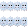 "Hygloss Happy Snowflakes Border Strips - 12 Happy Snowflakes - Damage Resistant, Durable, Long Lasting - 36"" Height x 3"" Width - Assorted - 12 / Pack"
