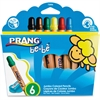 Prang be-be Jumbo Colored Pencils - Assorted Lead - 6 / Set