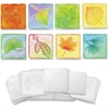 ChenilleKraft Leaf-embossed Paper Set - 24 Piece(s) - 24 / Set - White