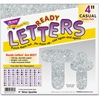 "Trend Sparkle 4"" Casual Ready Letters Combo Pack - Learning Theme/Subject - 50 Uppercase Letters, 82 Lowercase Letters, 20 Numbers, 30 Punctuation Marks - Sparkle - Reusable, Easy to Use, Fade Resista"