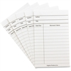 "Hygloss White Library Cards - 5"" x 3"" Sheet Size - White Sheet(s) - Card Stock - 50 / Pack"