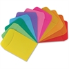 "Hygloss Nonadhesive Library Pockets - 5"" Height x 3.5"" Width - Rectangular - Assorted - Manila - 30 / Pack"