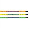 Moon Products Happy Birthday Neon Themed Pencils - #2 Lead Degree (Hardness) - Assorted Bright Barrel - 1 Dozen
