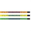 Moon Products Happy Birthday Neon Themed Pencils - #2 Lead Degree (Hardness) - Assorted Bright Barrel - 1 Dozen