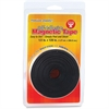 "Hygloss Self-adhesive Magnetic Tape - 0.50"" Width x 10 ft Length - Self-adhesive - 1 Each - Black"