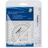 Staedtler 4 Piece Math Set - 4 Piece(s) - Transparent