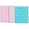 """Roaring Spring Modern Jen Design 1-subj Notebook - 80 Sheets - Printed - Spiral Bound - College Ruled 8.50"""" x 10.50"""" - White Paper - Blue, Yellow Cover Chevron - Board Cover - 1Each"""