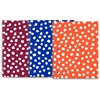 "Roaring Spring Modern Jen Dots Design Notebook - 80 Sheets - Printed - Spiral Bound - College Ruled 8.50"" x 10.50"" - White Paper - Lime Green, Ocean Blue, Red Cover Dotted - Board Cover - 1Each"