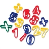"ChenilleKraft Dough Cutter Numbers/Math Symbols - 14 Piece(s) - 1.2"" - 14 / Set - Assorted - Plastic"