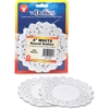 "Hygloss Round Doilies - 100 Piece(s) - 4"" - 1 Pack - White - Paper"