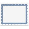 "Geographics Blank Parchment Certificate - 8.50"" x 11"" - Inkjet, Laser Compatible with Golden Seal"