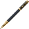 Waterman Perspective Pen - Fine Point Type - Black - Black, Gold Barrel - 1 Each