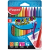 Color'Peps PlastiClean Plastic Crayons - Assorted - 12 / Box