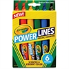 Crayola Power Lines 6-color Project Markers - Assorted - 6 / Pack