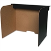 "Flipside Fold/Lock Desktop Privacy Screen - 47"" Width x 12"" Height - Corrugated - Black, Brown"