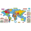 "Trend Continents & Countries Bulletin Board Set - Learning, Fun Theme/Subject - 35"" Height - Multicolor - 27 / Set"
