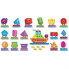 Trend Ship Shapes/Colors Bulletin Board Set - Learning Theme/Subject - 16 Geometric, 24 Word, 4 Label - Multicolor - 45 / Set