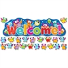 "Trend Owl-Stars! Welcom Bulletin Board Set - 1 Welcome, 36 Owl x 55.25"" Width - Multicolor - 38 / Set"