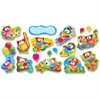 "Trend Owl-Stars Bulletin Board Set - Encouragement Theme/Subject - 11 Owl, 5 Balloon x 18"" Width - Multicolor - 17 / Set"
