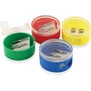 "Eisen Pencil Grip 2-hole Round Shapener - 2 Hole(s) - 1.5"" Height x 1.5"" Width - Assorted, Transparent"